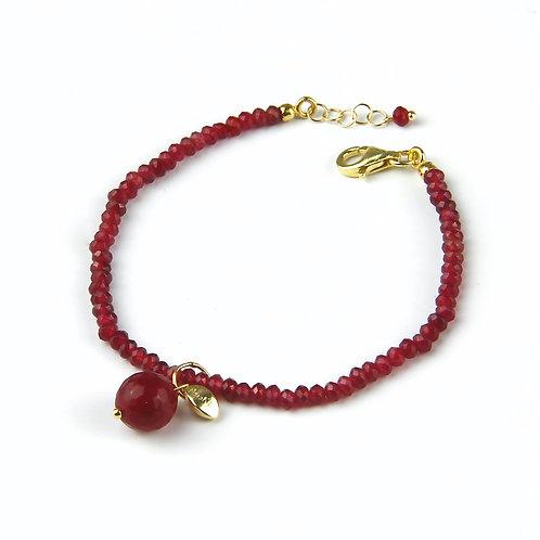 Bracciale agata ruby - Collezione Le Meline