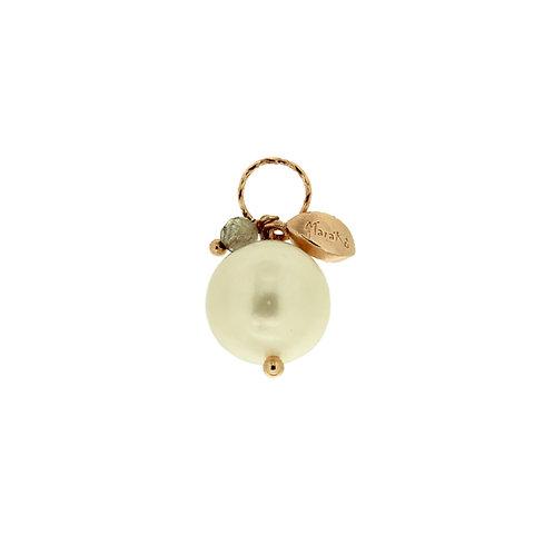 Ciondolo Melina perla e labradorite diamond