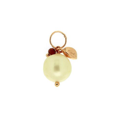 Ciondolo Melina perla e granato diamond