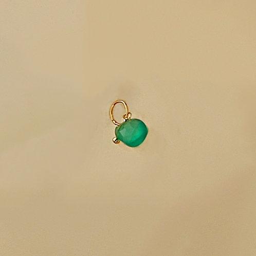 Ciondolo agata verde smeraldo