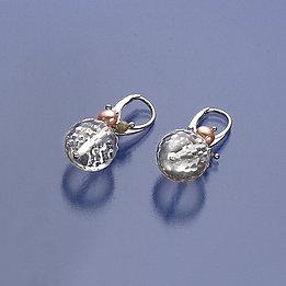 Orecchini cristallo di Rocca sfaccettato, labradorite, opale e perle rosa
