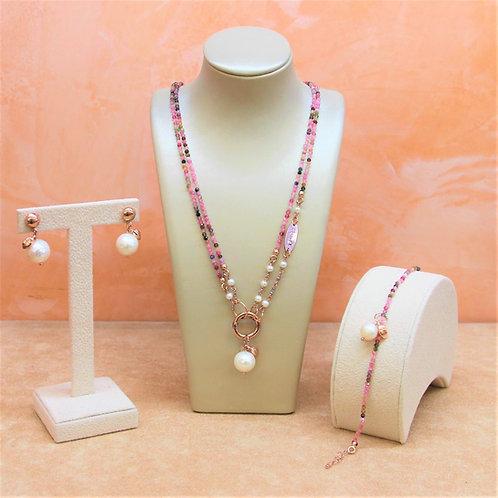 Gioielli tormalina diamond e perle bianche coltivate - Collezione Le Meline