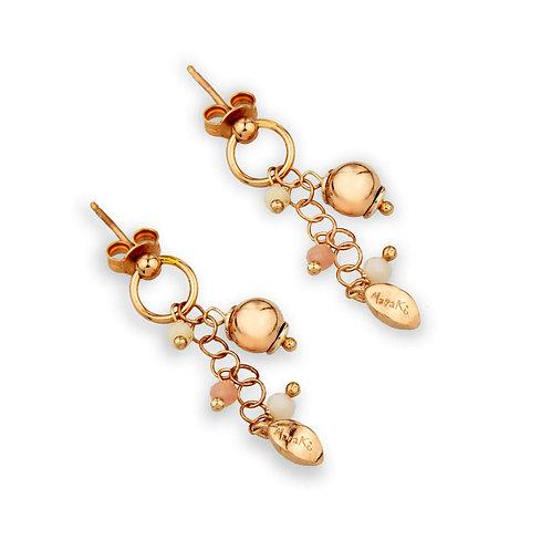 Orecchini opale rosa diamond - Grapes