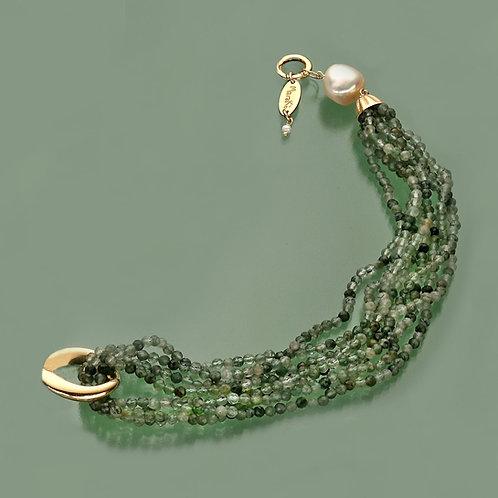Fascia quarzo verde scuro diamond