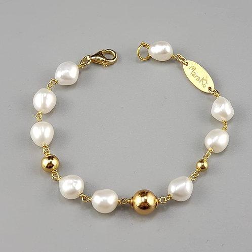 bracciale perle oro