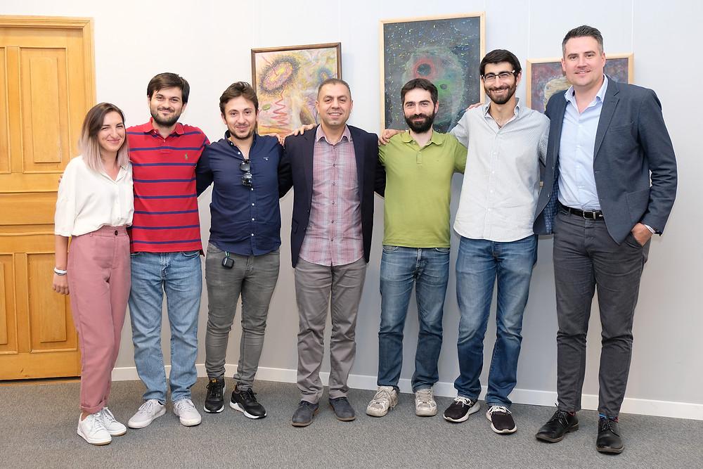 ForgeFiction team with SmartGateVC partner Vazgen Hakobjanyan and representatives of BANA and STAN