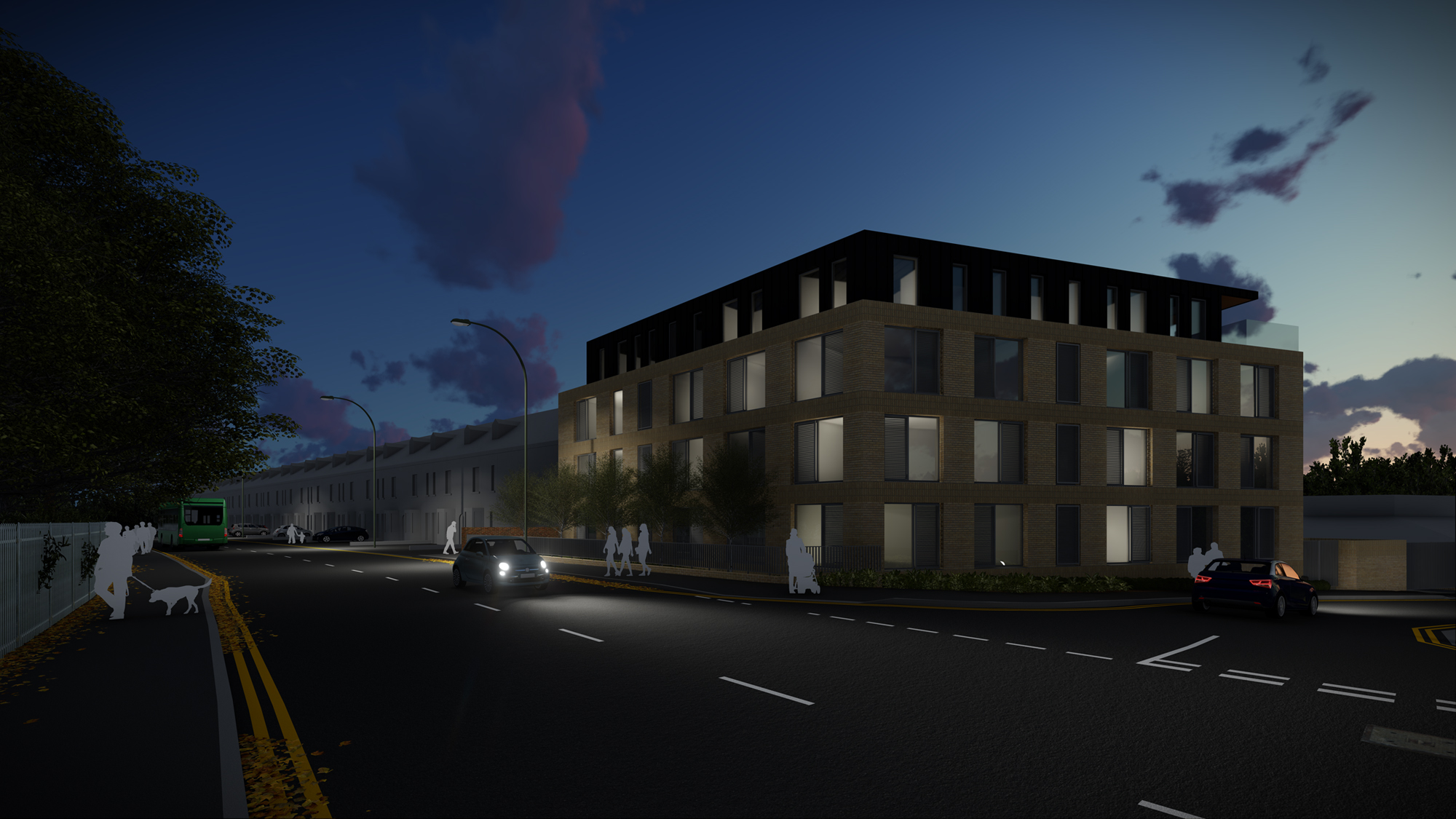 Kedleston Road Apartments Night