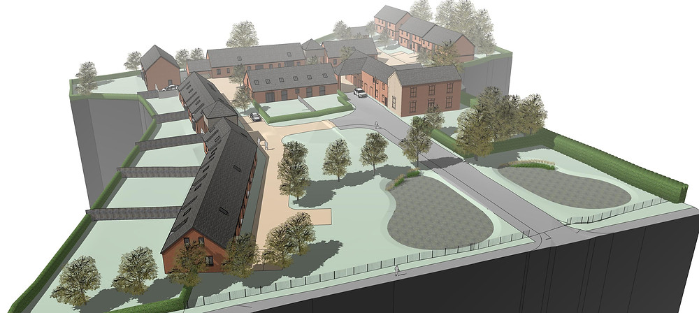 Housing scheme submitted for 14 new homes at Mickle Meadow Farm in Littleover.