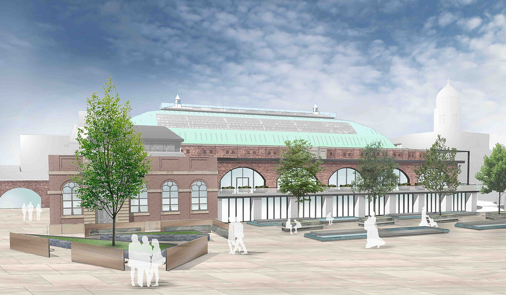 Proposed new design for The Derby Market Hall.