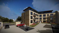 Kedleston Road Apartments Rear Carpark