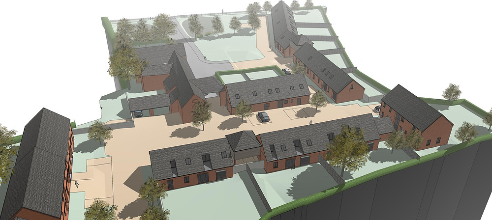 Proposed design for 14 new houses at Mickle Meadow Farm, Littleover.