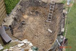 1. Bodenaushub der Teichanlage