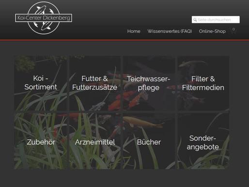 Die Homepage und der Online-Shop wurden überarbeitet