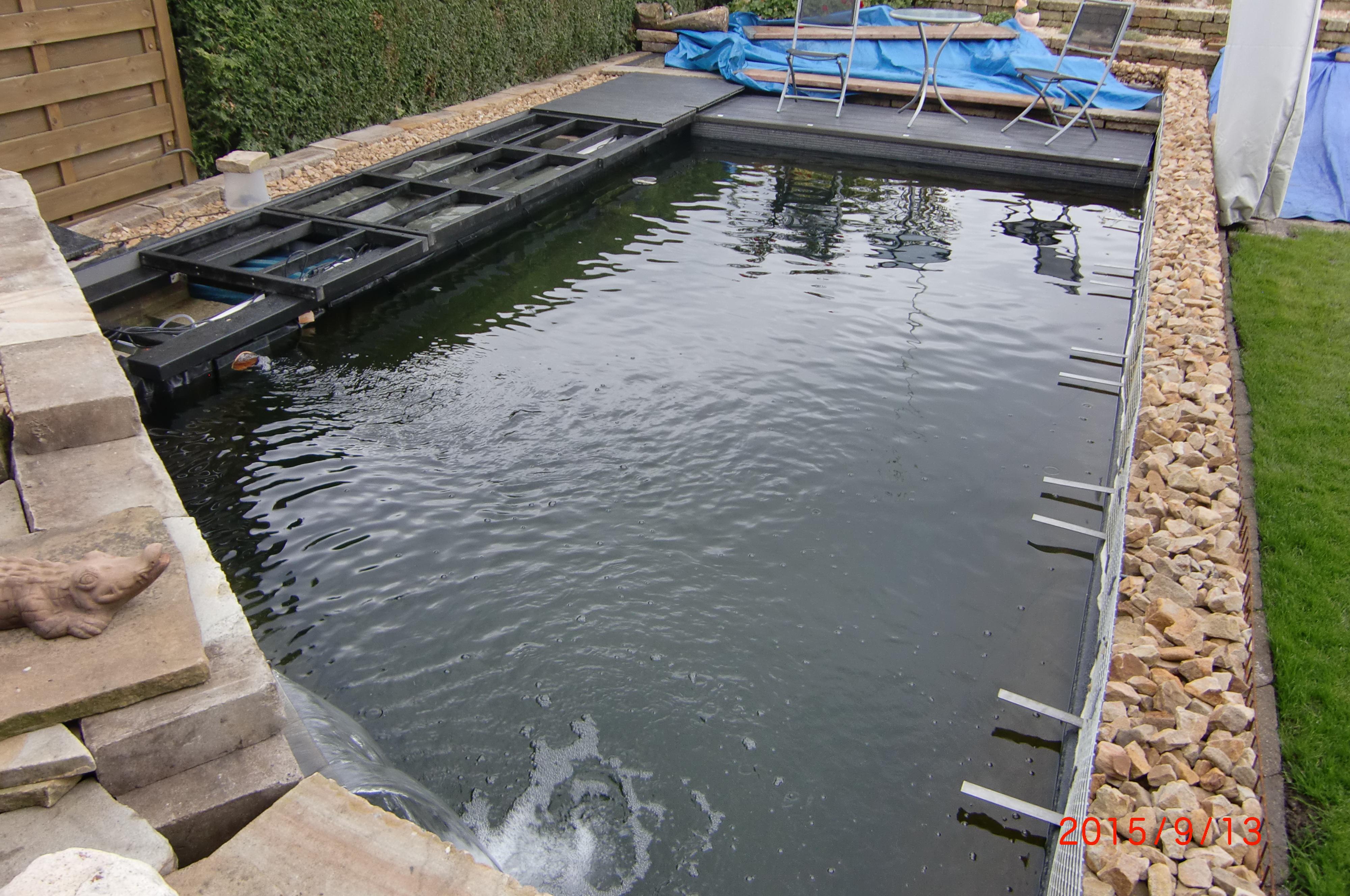 16. Der fast fertige Teich