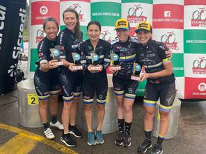 Correndo em casa, equipe feminina domina a 7ª etapa do Catarinense
