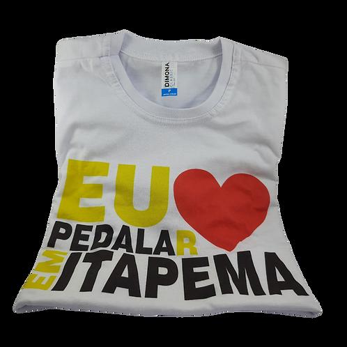 Camiseta Infantil Eu Amo PedalaR Em Itapema
