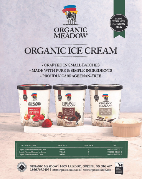 Trade Ad for Client : Organic Meadow Ice Cream
