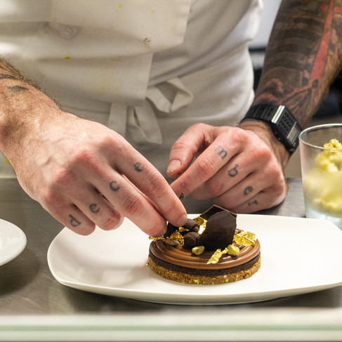 Stratford Chef School student plating a dessert_Food Photography_BonjourTasty by Florence
