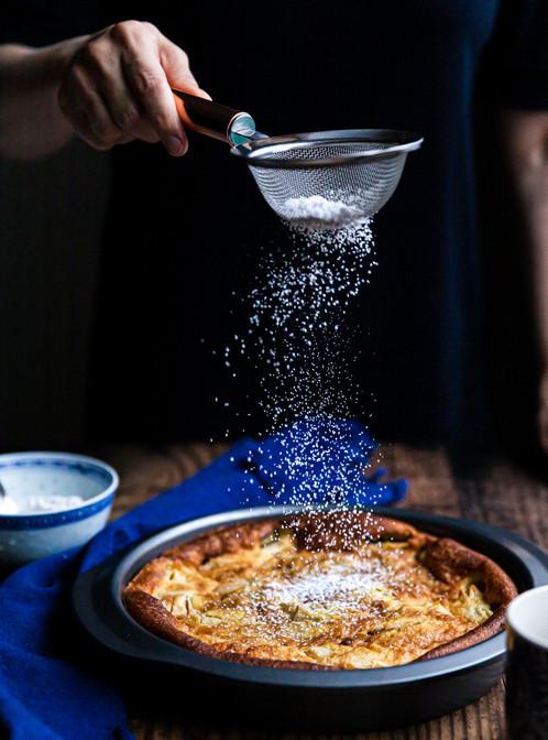 Sprinkling Icing Sugar on Pear Pie_Whole