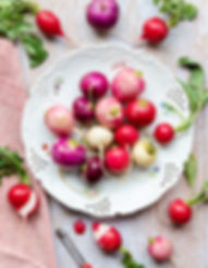 Radishes on a white plate_The Supper Clu