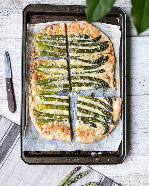 Asparagus Tart on a  Baking Sheet_ Food Photography_Bonjour Tasty by Florence Grunfelder.j