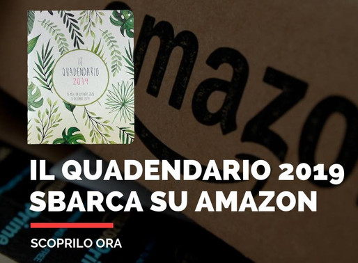 Il QUADENDARIO sbarca su Amazon.
