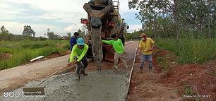 อบต.คำนาดี เปิดโอกาสให้ตัวแทนประชาคมร่วมตรวจสอบโครงการก่อสร้างถนนคอนกรีตเสริมเหล็ก บ้านอีแฮต
