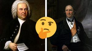 Bach à esquerda e Savigny à direita