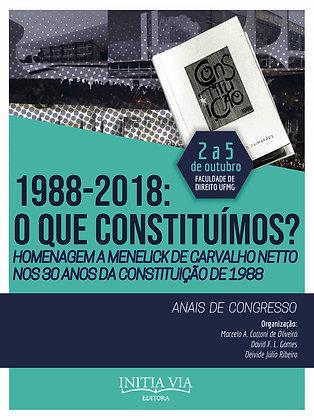 Anais de 1988-2018: o que constituímos?