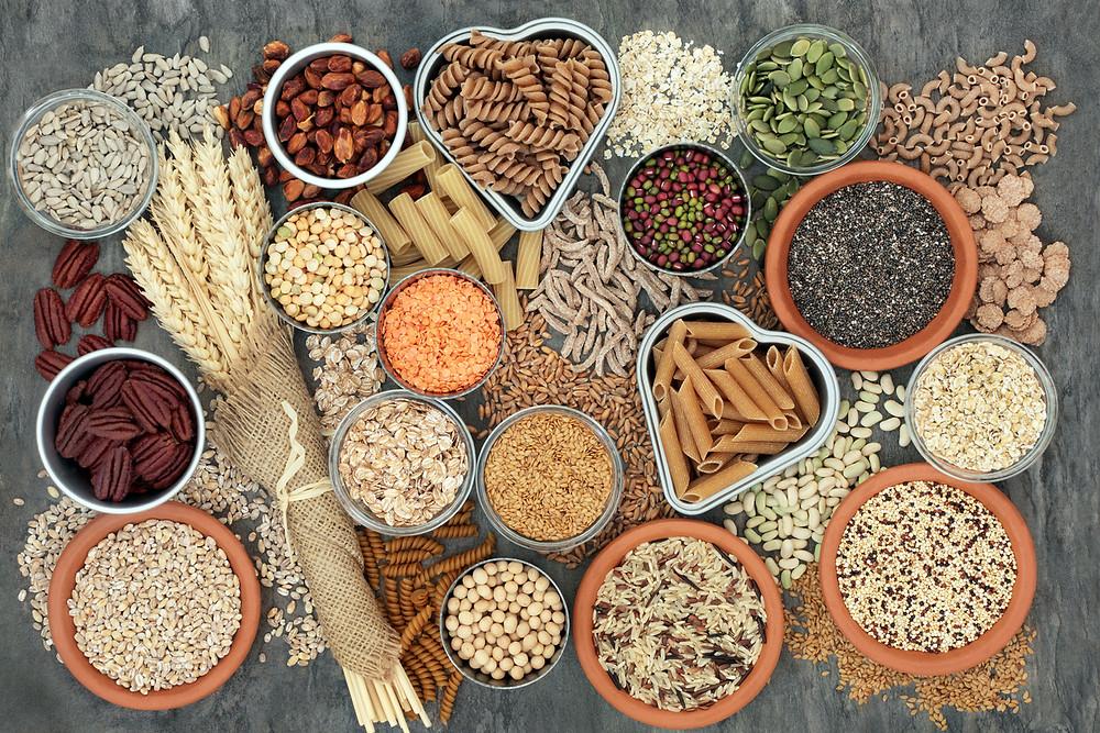 whole grain vs refined grain, heart healthy eating, fiber