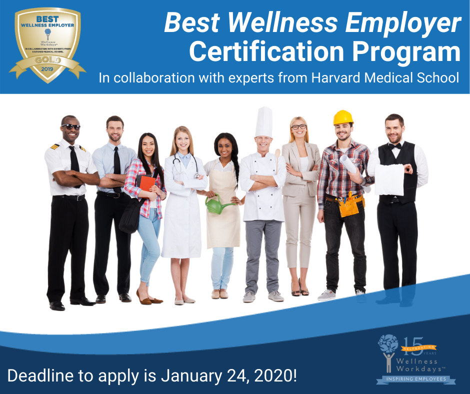 2020 Best Wellness Employer Certification Program