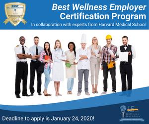 2020 Best Wellness Employer Certification Program