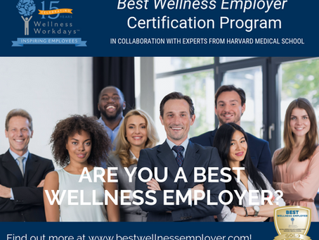 2019 Best Wellness Employer Certification Survey Open for Employers