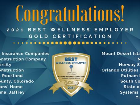 Wellness Workdays Announces 2021 Best Wellness Employer Awards