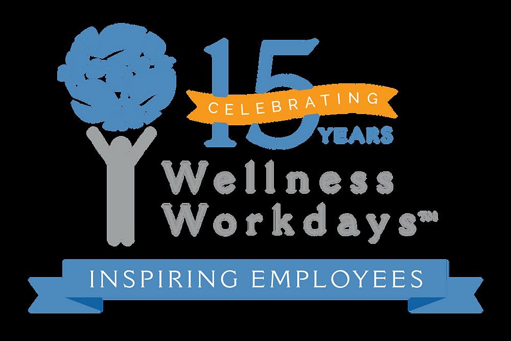 Wellness Workdays 15 Year Anniversary Celebration Logo