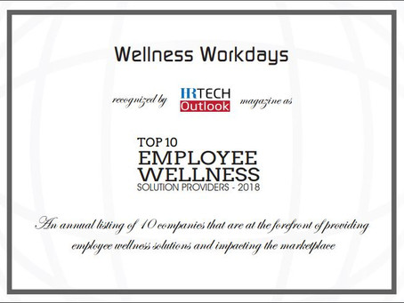 Wellness Workdays Named to Top 10 Employee Wellness Solution Providers for 2018