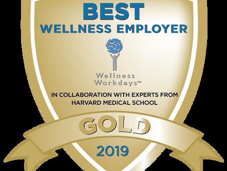 Wellness Workdays Announces 2019 Best Wellness Employer Awards