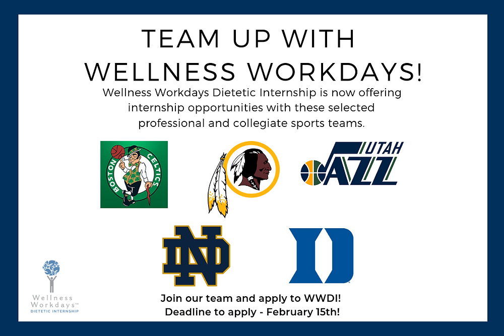 WWDI Sports & Nutrition Dietetic Internship Program teams up with professional and collegiate teams
