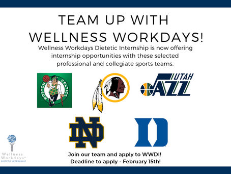 Wellness Workdays Partners with Professional and Collegiate Sports Teams to Offer Dietetic Interns U
