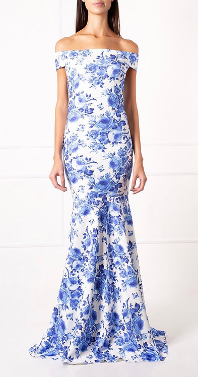 Vestido OMD Floral Azul
