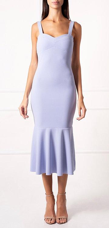 Vestido Midi Azul Claro