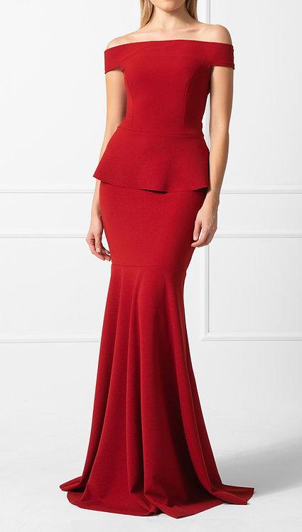 Vestido OMD Crepe Vermelho