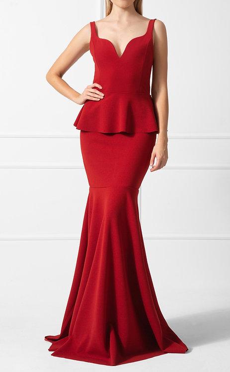 Vestido ZMR Crepe Vermelho