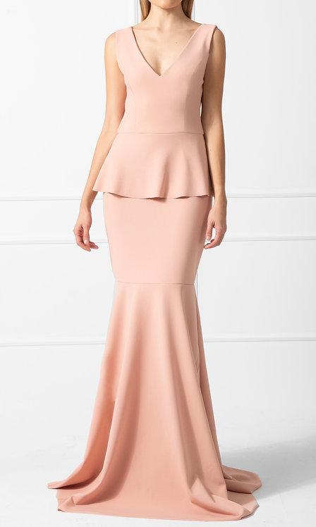 Vestido DCV Crepe Rosé