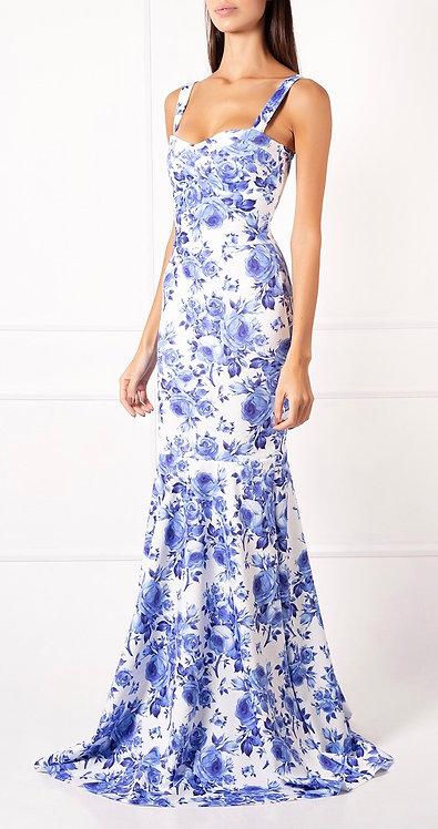 Vestido DLC Floral Azul