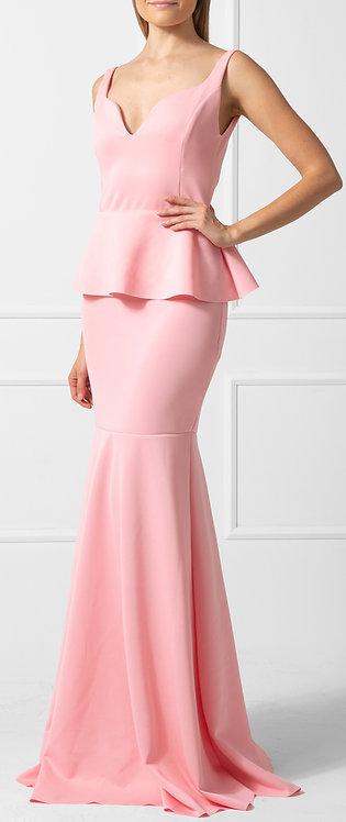 Vestido ZMR Peplum Rosa