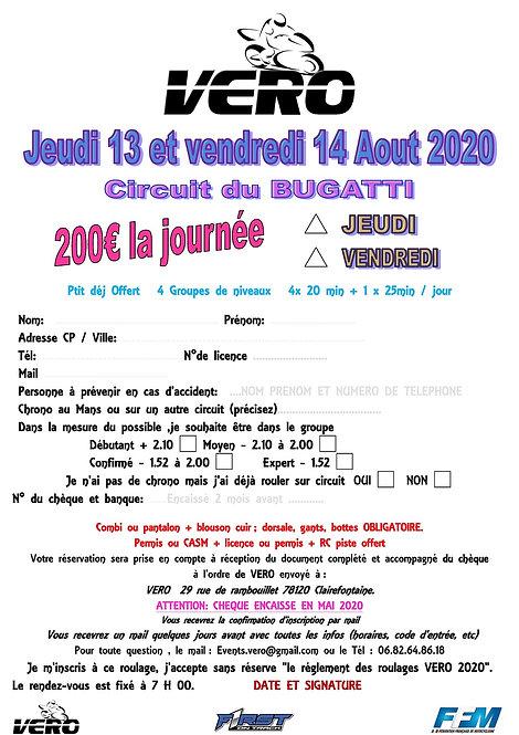 13 ET 14 AOUT 2020 LE MANS
