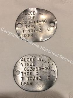 Alcee Vigue Dog Tags