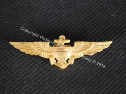 Navy Wings pin worn by John Goodell Sanb