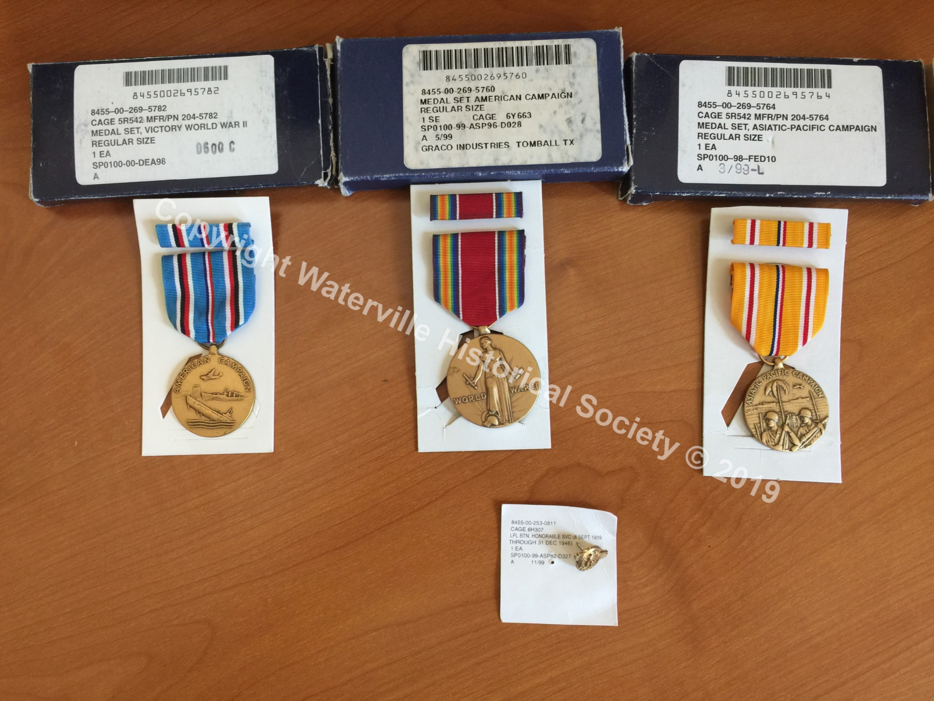 Alcee Vigue Campaign Medals WWII